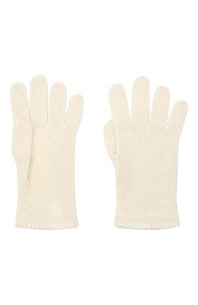 Женские перчатки BILANCIONI белого цвета, арт. 4908GU   Фото 2