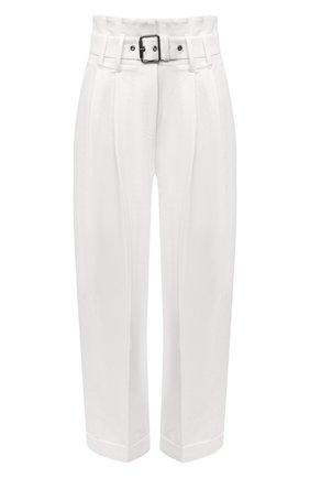 Женские брюки из хлопка и льна BRUNELLO CUCINELLI кремвого цвета, арт. M0F69P7638 | Фото 1