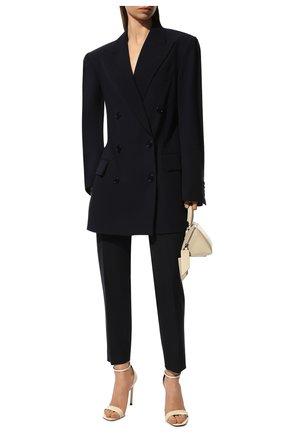 Женские шерстяные брюки CHLOÉ темно-синего цвета, арт. CHC21SPA93062 | Фото 2