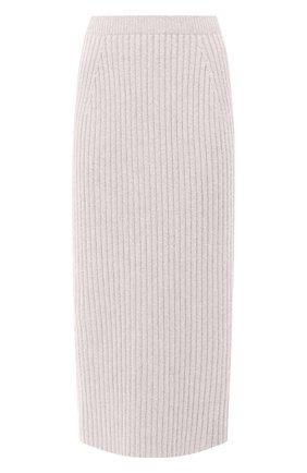 Женская кашемировая юбка LORO PIANA светло-серого цвета, арт. FAL2866 | Фото 1
