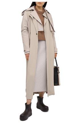 Женская кашемировая юбка LORO PIANA светло-серого цвета, арт. FAL2866 | Фото 2
