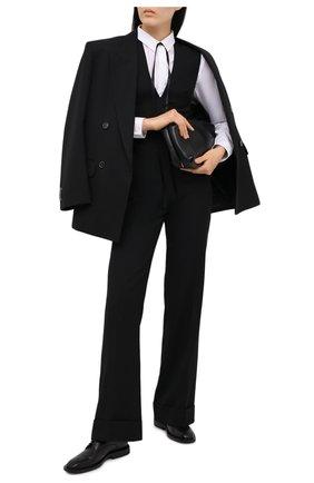 Женский шерстяной комбинезон VICTORIA BECKHAM черного цвета, арт. 1121WJS002334A | Фото 2