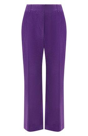 Женские хлопковые брюки VICTORIA BECKHAM фиолетового цвета, арт. 1121WTR002225A | Фото 1