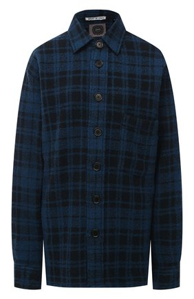 Женская рубашка из шерсти и кашемира DESTIN синего цвета, арт. D5W0MAT/W0RKER GRANT FLEECY | Фото 1