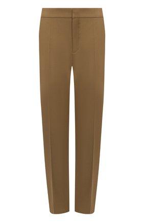 Женские шерстяные брюки CHLOÉ бежевого цвета, арт. CHC21SPA93062 | Фото 1