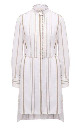 Женское платье из вискозы CHLOÉ белого цвета, арт. CHC21SR008360 | Фото 1