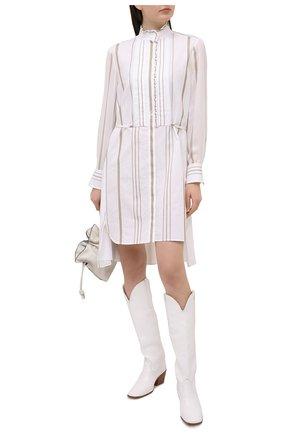 Женское платье из вискозы CHLOÉ белого цвета, арт. CHC21SR008360 | Фото 2