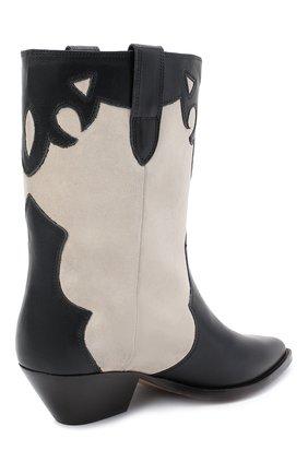 Женские кожаные ботильоны duoni ISABEL MARANT черно-белого цвета, арт. DU0NI/B00635-21P011S | Фото 4