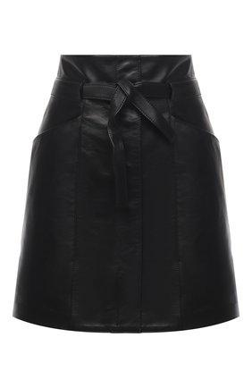 Женская кожаная юбка ISABEL MARANT черного цвета, арт. JU1277-21P001I/BILICIAE | Фото 1