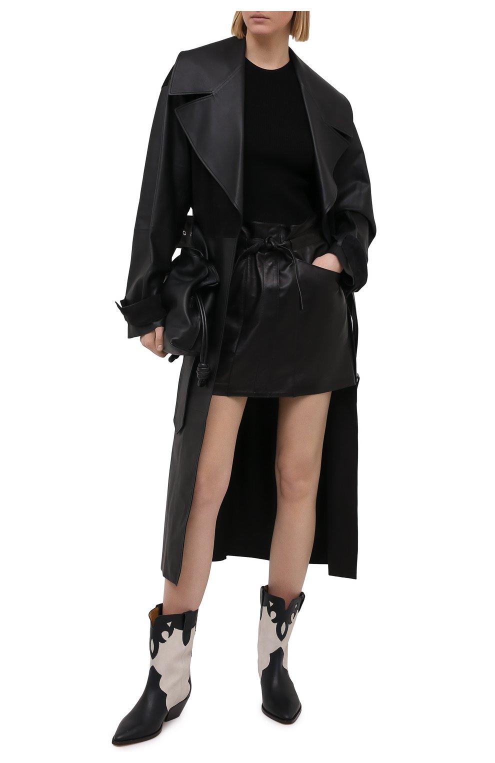 Женская кожаная юбка ISABEL MARANT черного цвета, арт. JU1277-21P001I/BILICIAE | Фото 2