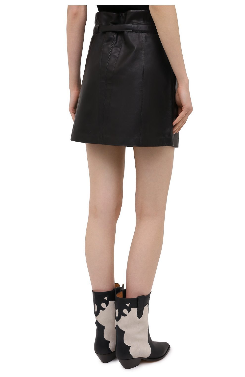 Женская кожаная юбка ISABEL MARANT черного цвета, арт. JU1277-21P001I/BILICIAE | Фото 4