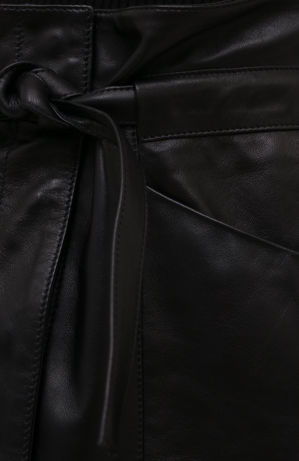 Женская кожаная юбка ISABEL MARANT черного цвета, арт. JU1277-21P001I/BILICIAE | Фото 5