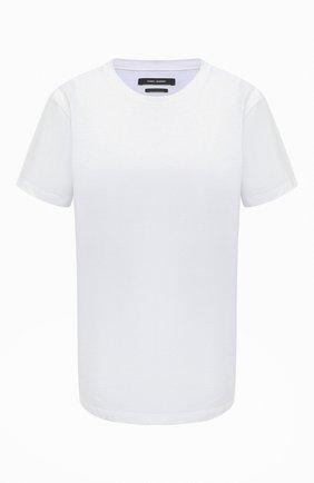 Женская хлопковая футболка ISABEL MARANT белого цвета, арт. TS0772-00M002I/ANNAX | Фото 1