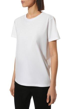 Женская хлопковая футболка ISABEL MARANT белого цвета, арт. TS0772-00M002I/ANNAX | Фото 3