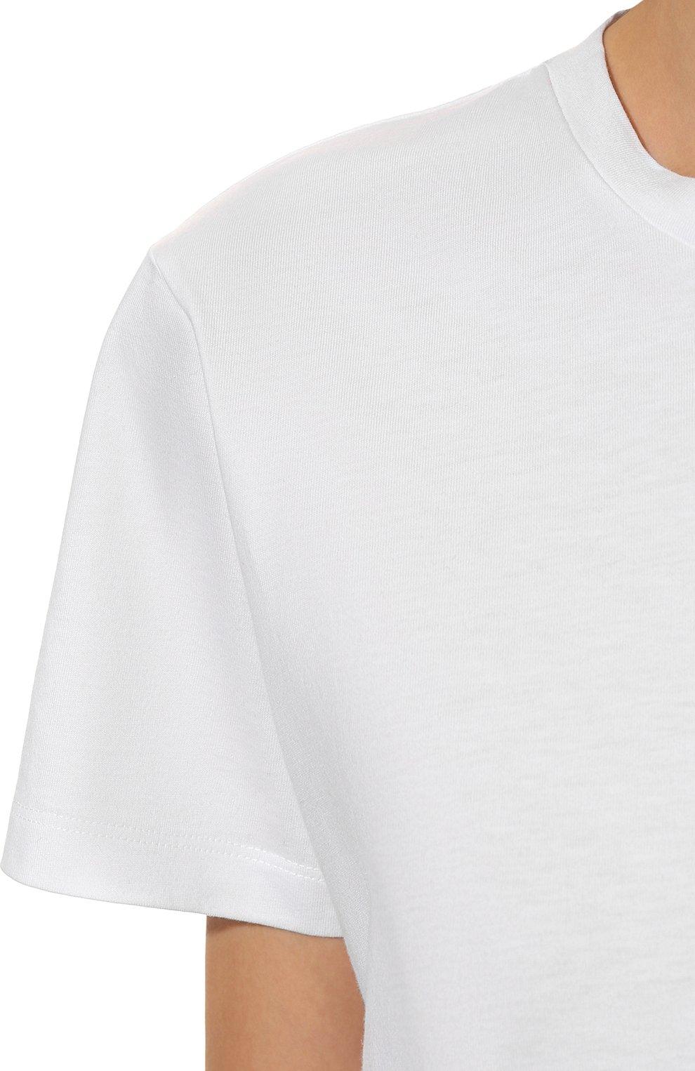 Женская хлопковая футболка ISABEL MARANT белого цвета, арт. TS0772-00M002I/ANNAX | Фото 5