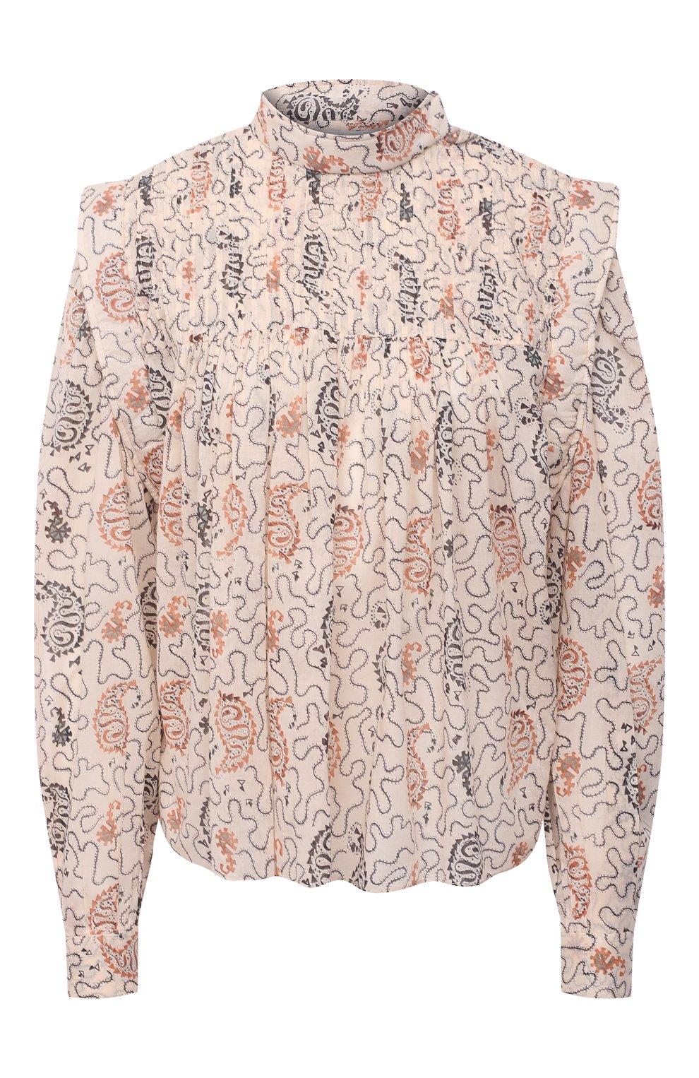 Женская хлопковая блузка ISABEL MARANT ETOILE бежевого цвета, арт. HT1664-21P031E/VEGA | Фото 1