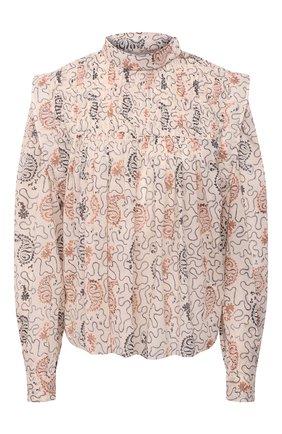 Женская хлопковая блузка ISABEL MARANT ETOILE кремвого цвета, арт. HT1664-21P031E/VEGA | Фото 1