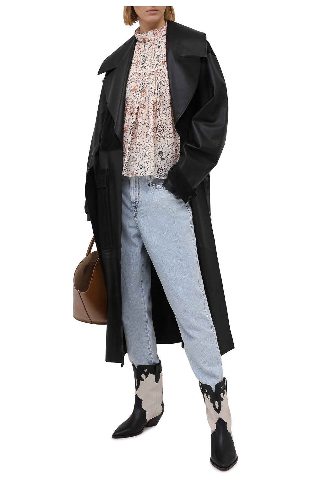 Женская хлопковая блузка ISABEL MARANT ETOILE бежевого цвета, арт. HT1664-21P031E/VEGA | Фото 2