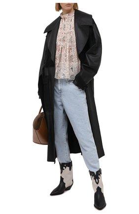 Женская хлопковая блузка ISABEL MARANT ETOILE кремвого цвета, арт. HT1664-21P031E/VEGA | Фото 2