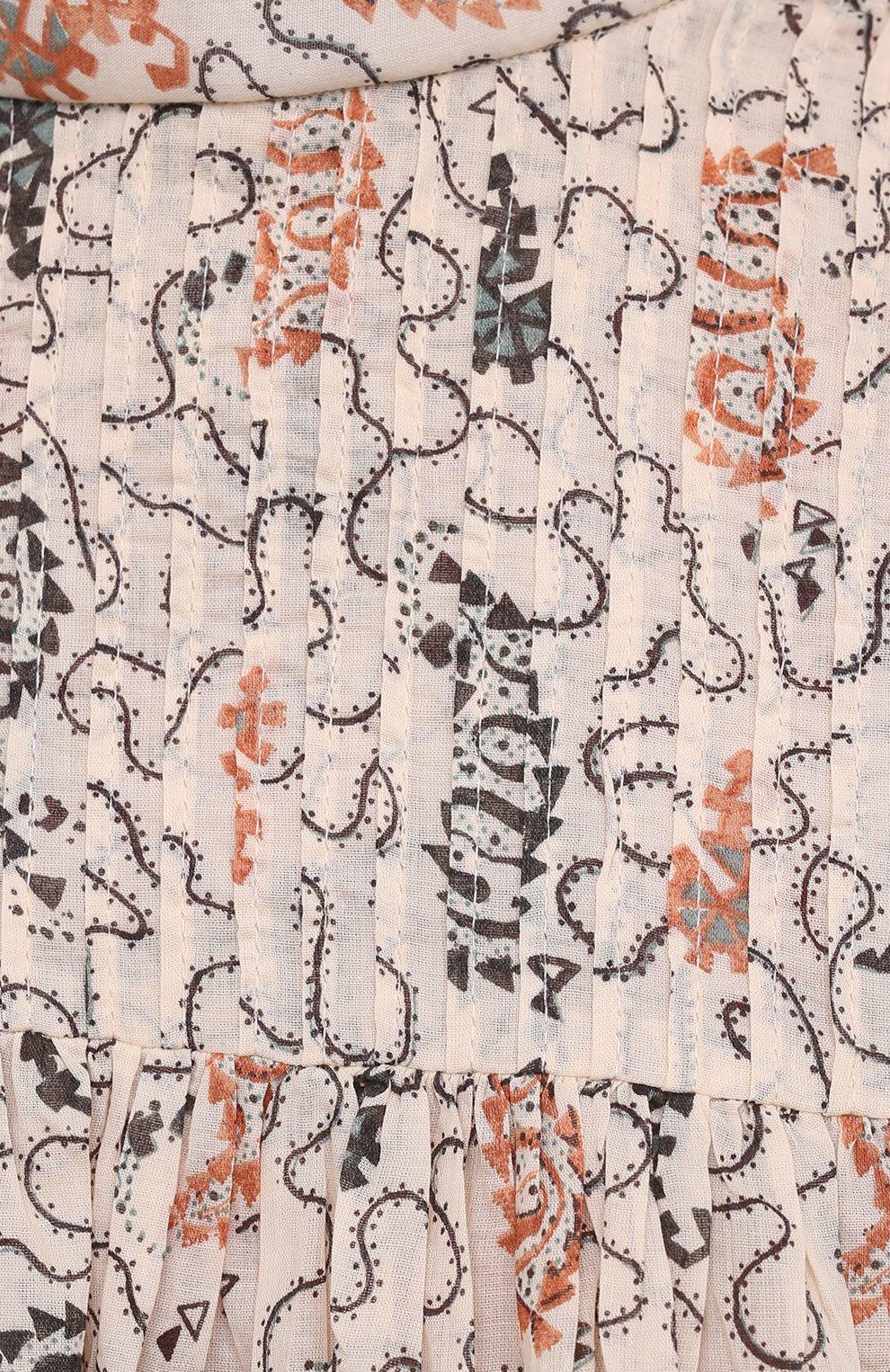 Женская хлопковая блузка ISABEL MARANT ETOILE бежевого цвета, арт. HT1664-21P031E/VEGA | Фото 5