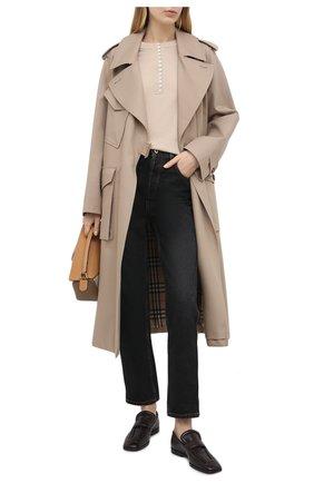 Женский кашемировый пуловер THEORY бежевого цвета, арт. J1018703 | Фото 2