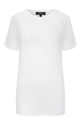 Женская хлопковая футболка THEORY белого цвета, арт. K0324517 | Фото 1