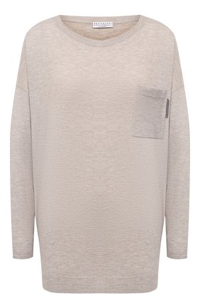 Женский пуловер BRUNELLO CUCINELLI серого цвета, арт. M9A820808 | Фото 1
