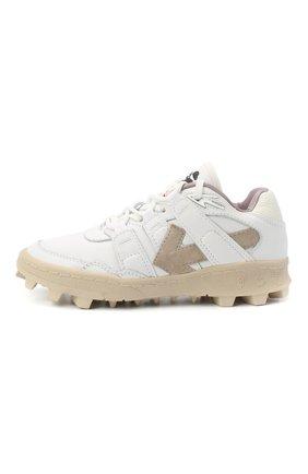 Женские комбинированные кроссовки OFF-WHITE белого цвета, арт. 0WIA258R21LEA0020101 | Фото 2 (Материал внутренний: Натуральная кожа; Подошва: Платформа)