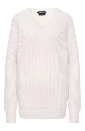 Женский кашемировый свитер TOM FORD белого цвета, арт. MAK1048-YAX294 | Фото 1