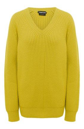 Женский кашемировый свитер TOM FORD желтого цвета, арт. MAK1048-YAX294 | Фото 1