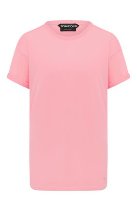 Женская футболка из кашемира и шелка TOM FORD светло-розового цвета, арт. MAK949-YAX087 | Фото 1