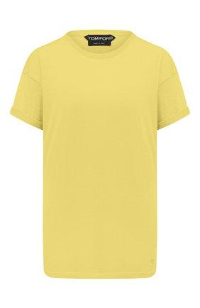 Женская футболка из кашемира и шелка TOM FORD желтого цвета, арт. MAK949-YAX087 | Фото 1