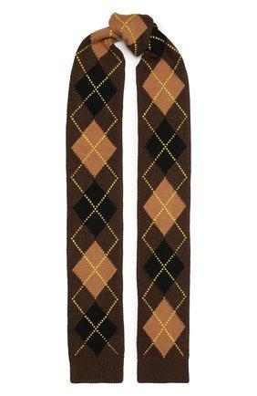 Женский шарф из шерсти и кашемира BURBERRY коричневого цвета, арт. 8037616   Фото 1