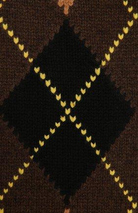 Женский шарф из шерсти и кашемира BURBERRY коричневого цвета, арт. 8037616   Фото 2