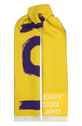 Женский шерстяной шарф BURBERRY желтого цвета, арт. 8037536   Фото 1
