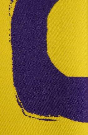 Женский шерстяной шарф BURBERRY желтого цвета, арт. 8037536   Фото 2