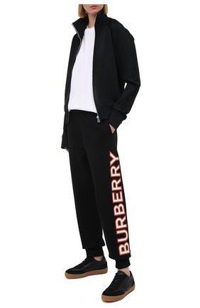 Женские хлопковые джоггеры BURBERRY черного цвета, арт. 8037260 | Фото 2