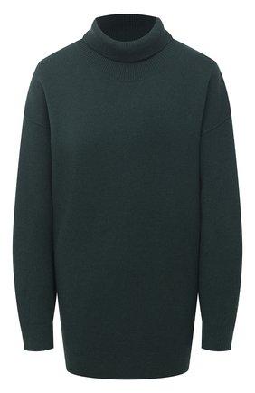 Женский кашемировый свитер BURBERRY зеленого цвета, арт. 8037208 | Фото 1