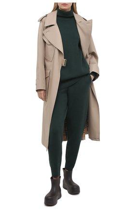 Женский кашемировый свитер BURBERRY зеленого цвета, арт. 8037208 | Фото 2