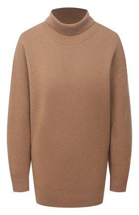 Женский кашемировый свитер BURBERRY бежевого цвета, арт. 8037207 | Фото 1