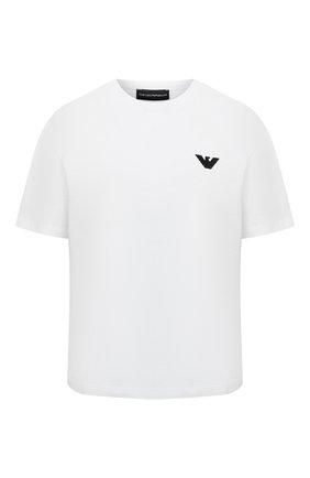 Женская хлопковая футболка EMPORIO ARMANI белого цвета, арт. 3K2T7X/2J53Z | Фото 1