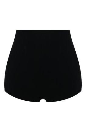 Женские шорты SAINT LAURENT черного цвета, арт. 650256/Y525R | Фото 1 (Материал внешний: Купро, Вискоза; Материал подклада: Шелк; Стили: Гламурный; Длина Ж (юбки, платья, шорты): Мини; Женское Кросс-КТ: Шорты-одежда)