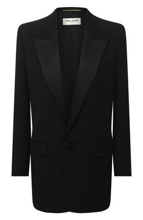 Женский шерстяной жакет SAINT LAURENT черного цвета, арт. 647957/Y512W | Фото 1