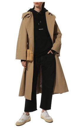 Женский хлопковое худи SAINT LAURENT черного цвета, арт. 464343/YB2EZ | Фото 2