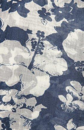 Женский шерстяной шарф SAINT LAURENT синего цвета, арт. 651073/3Y200 | Фото 2 (Материал: Шерсть)