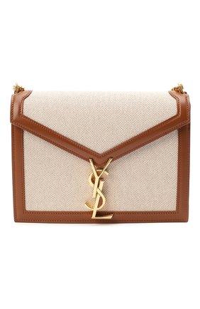 Женская сумка cassandra medium SAINT LAURENT коричневого цвета, арт. 532750/HZD2J | Фото 1