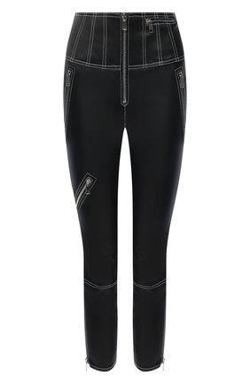 Женские кожаные брюки ALEXANDER MCQUEEN черного цвета, арт. 650220/Q5AFK | Фото 1