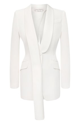 Женский жакет ALEXANDER MCQUEEN белого цвета, арт. 643466/QEAAA | Фото 1