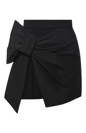 Женская юбка-шорты ALEXANDER MCQUEEN черного цвета, арт. 645503/QJAAA | Фото 1