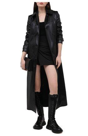 Женская юбка-шорты ALEXANDER MCQUEEN черного цвета, арт. 645503/QJAAA | Фото 2